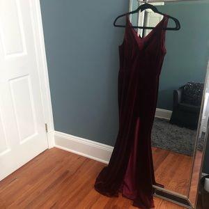 Velvet Sleeveless Gown